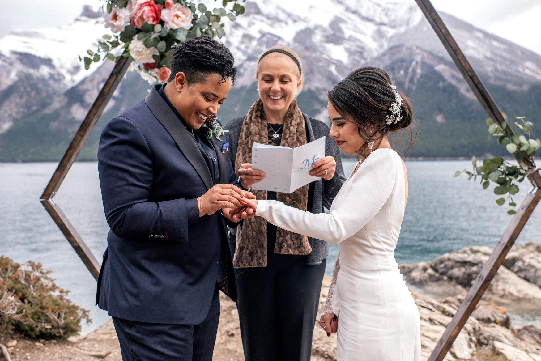 Wedding Ceremony Inspiration in Banff, CA