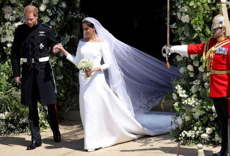 Meghan Markle Givenchy classic wedding gown
