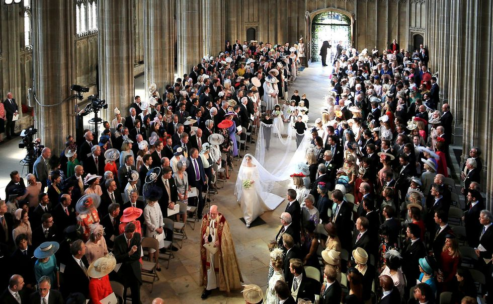 Meghan Markle wedding day bridal veil Royal Wedding