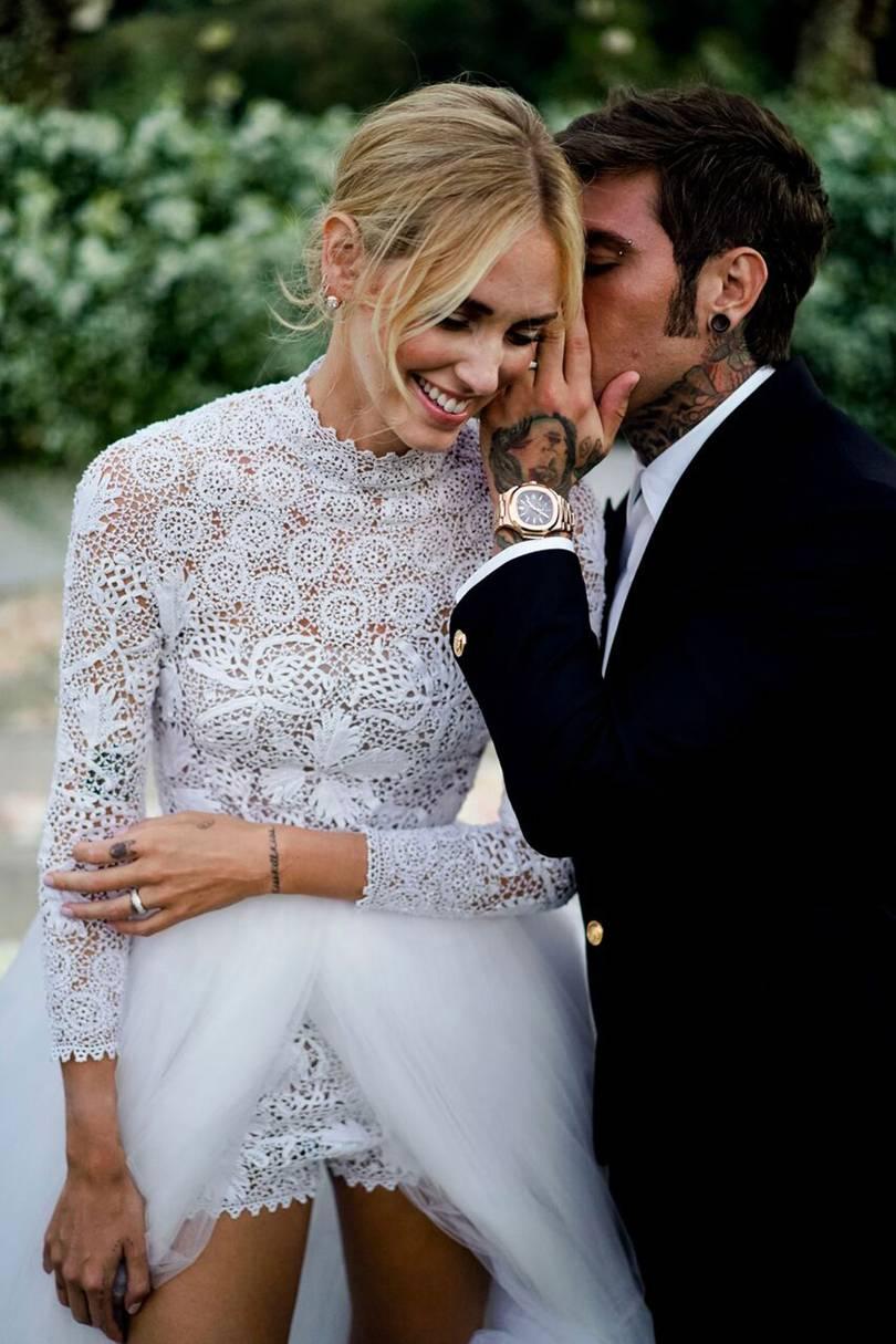 Chiara Ferragni dior wedding gown