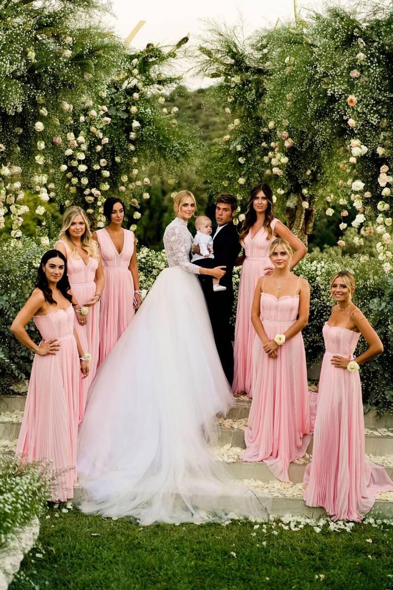 Chiara Ferragni wedding gown celebrity wedding influencing wedding 2018