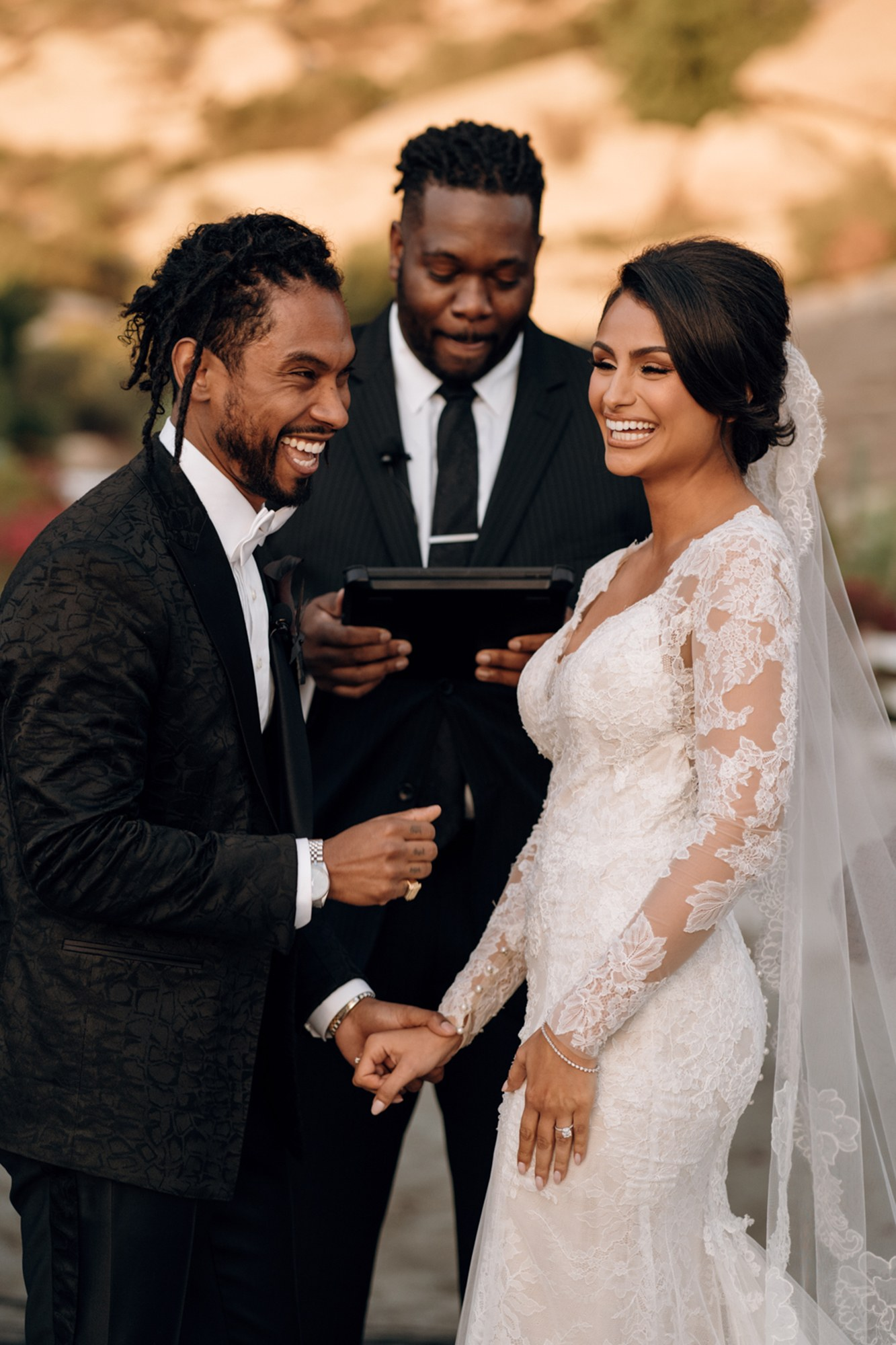 Miguel and nazanin wedding photos monique lhuillier bride