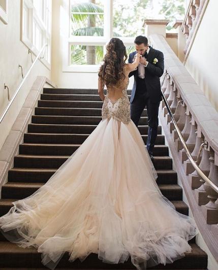 Galia lahav wedding gown low back dress designer