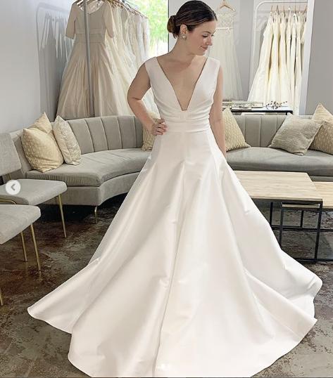 A line wedding gown reem acra wedding gown orlando dresses