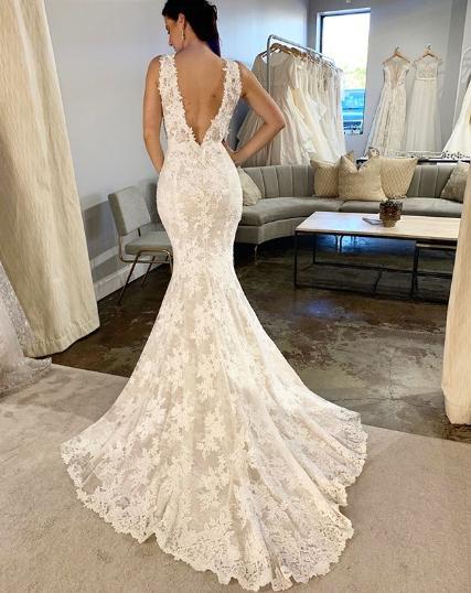 trumpet wedding gown mira zwillinger wedding dress