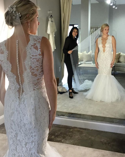 Mermaid wedding gown ines di santo trumpet gown fit and flair