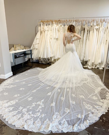 drop waist wedding gown INES DI SANTO WEDDING DRESS