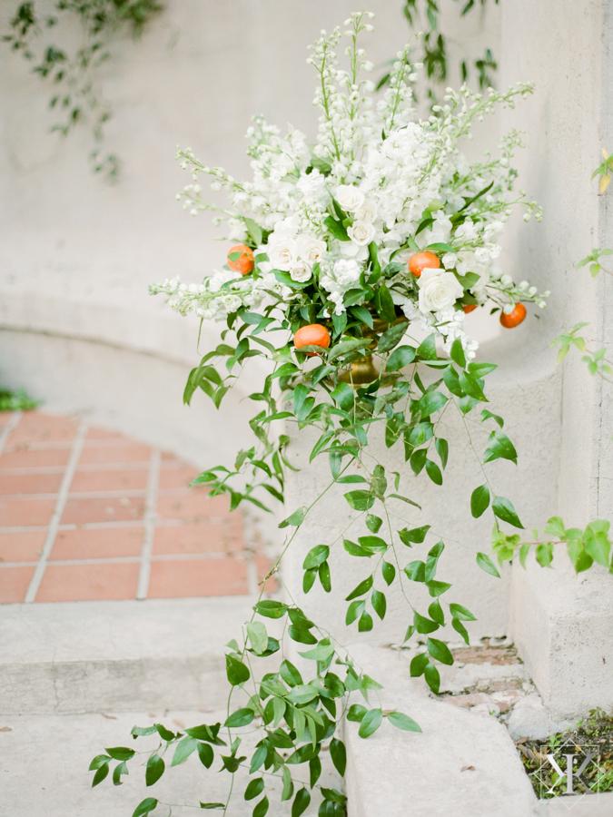 white roses raining roses wedding vendor orlando florist