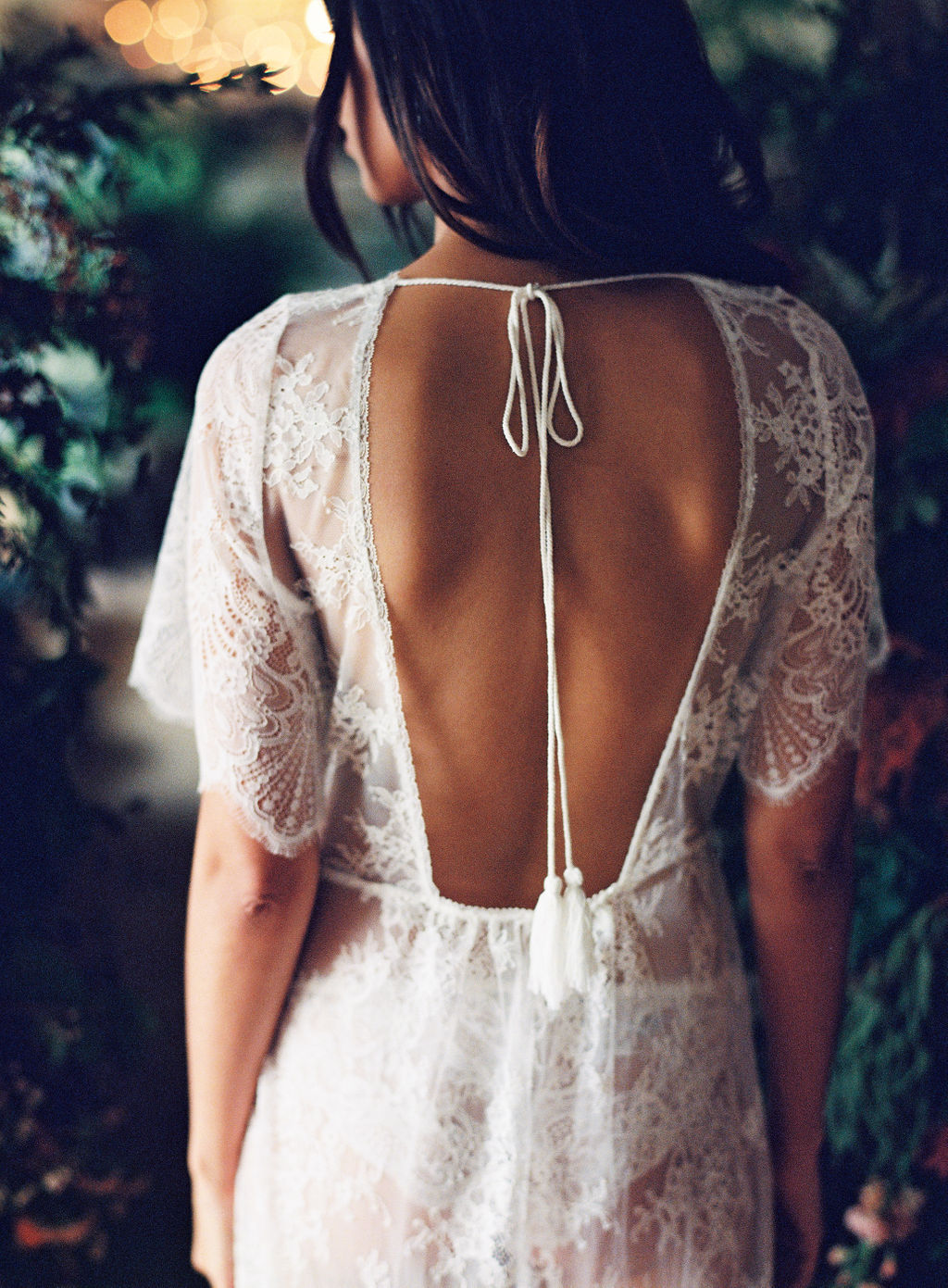 lace lingerie lace low back gown Girl and a serious dream