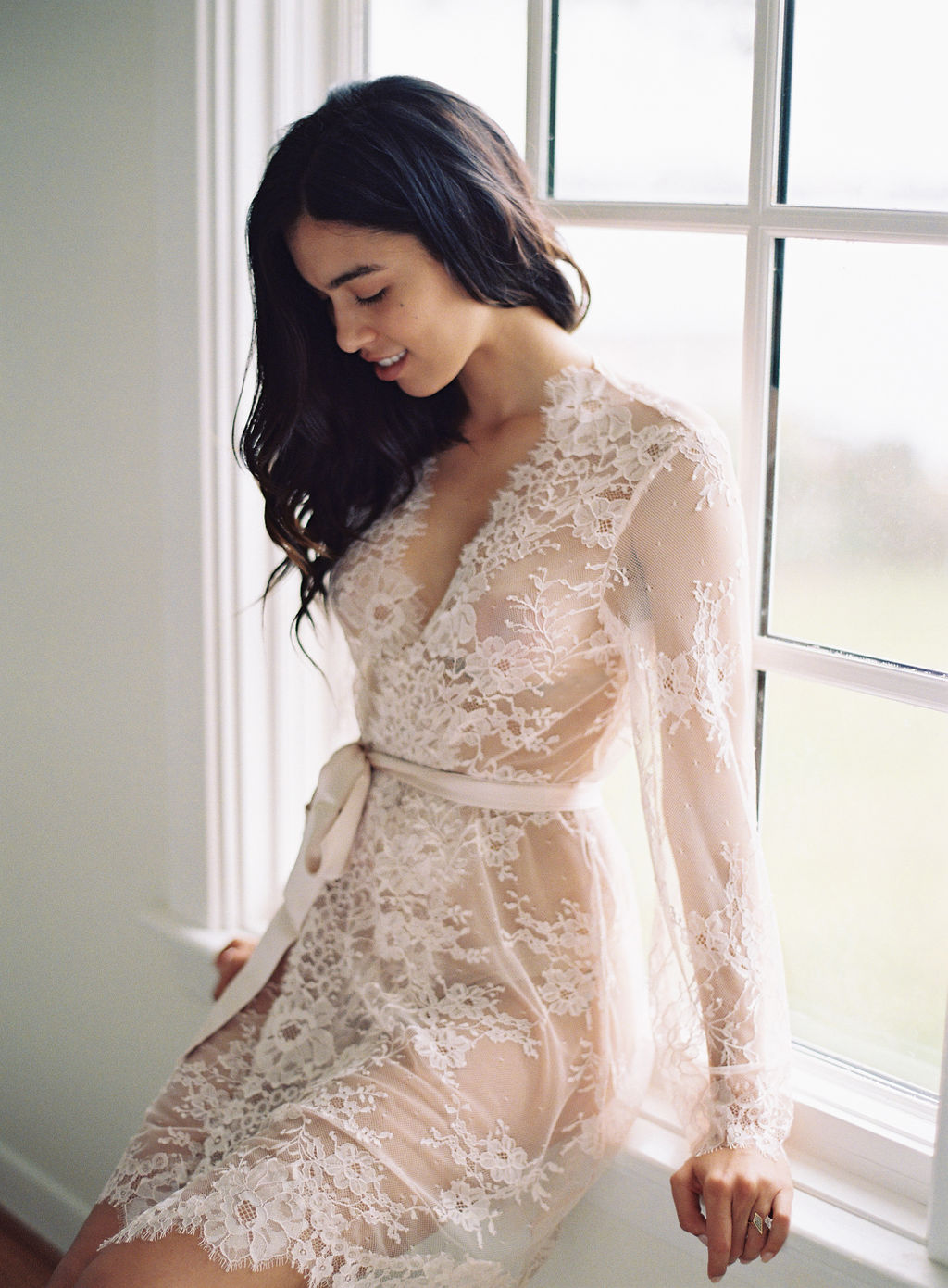 lace bridal robe girl a serious dream french lace robe the heavy winter park boudoir photoshoot