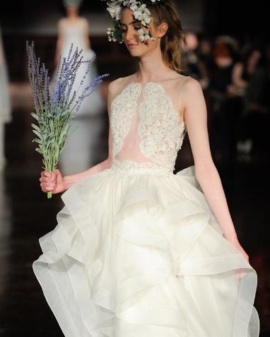 reem acra wedding gown orlando horsehair detail wedding terms