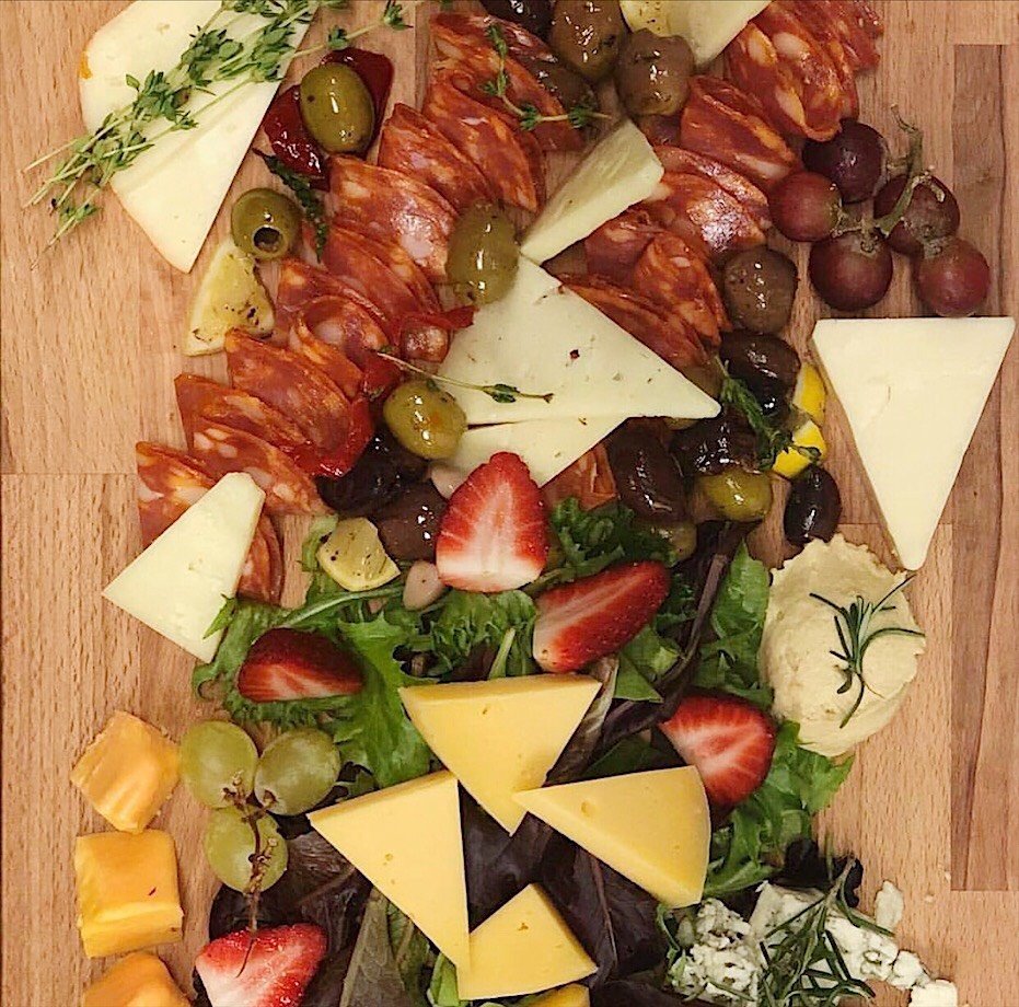 cheese platter from winter park restaurant near orlando