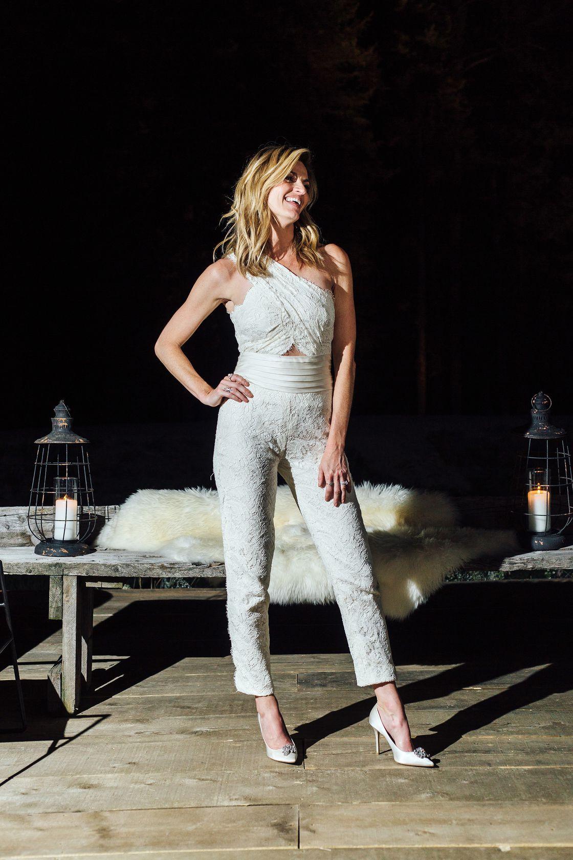 cigarette pantsuit bridal jumpsuit reception look party outfit for wedding