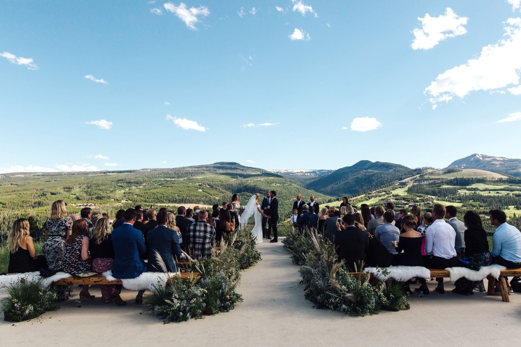 intimate montana wedding erin andrews