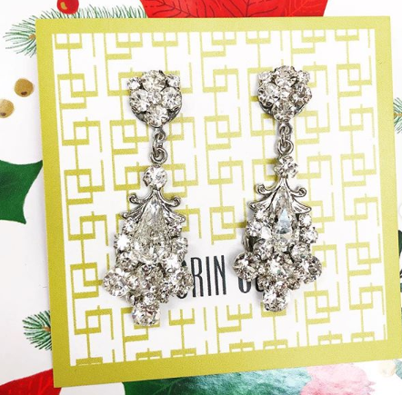 erin cole accessories silver swarovski earrings
