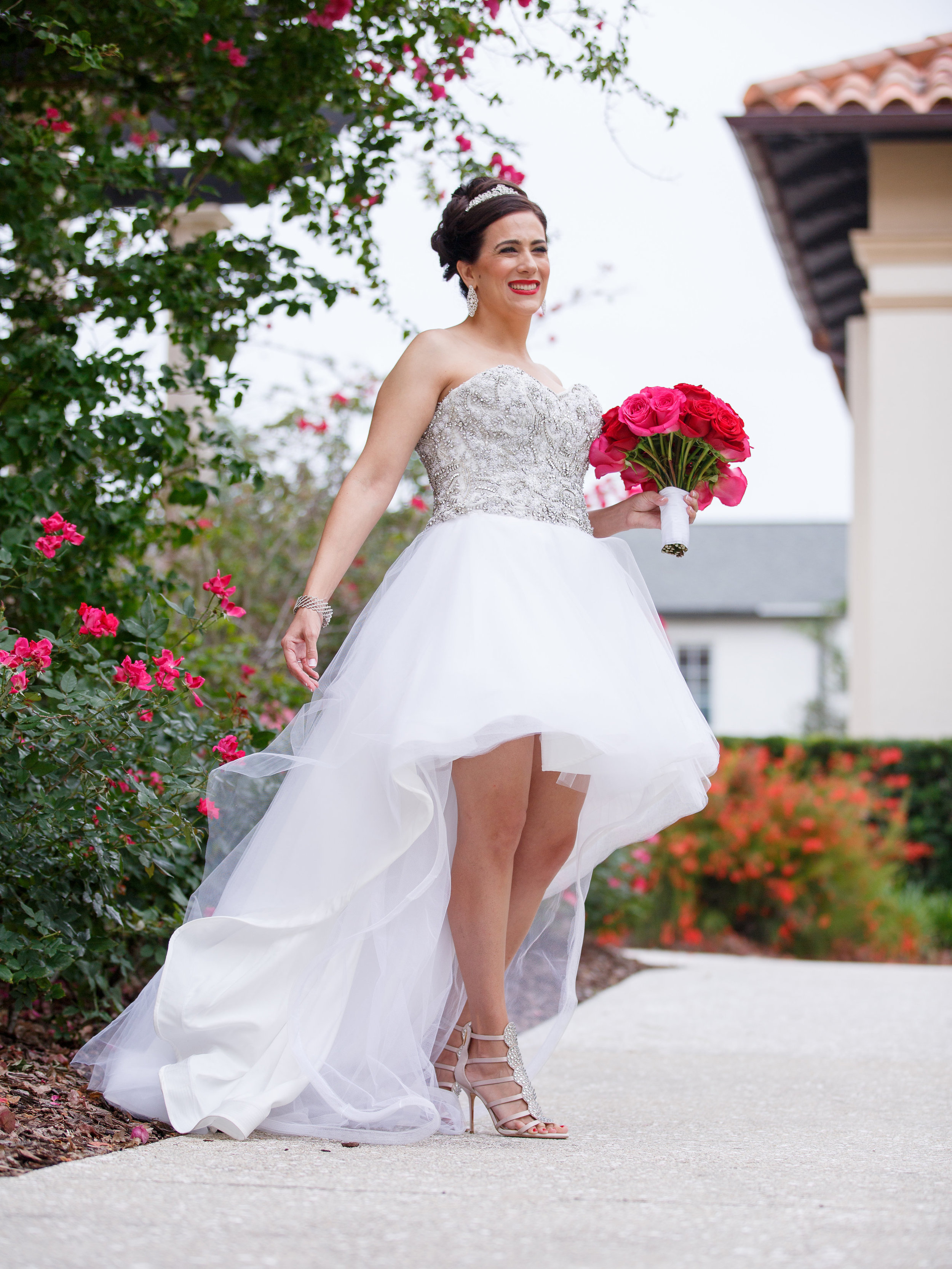 high low wedding gown alfond wedding winter park wedding wedding shoes