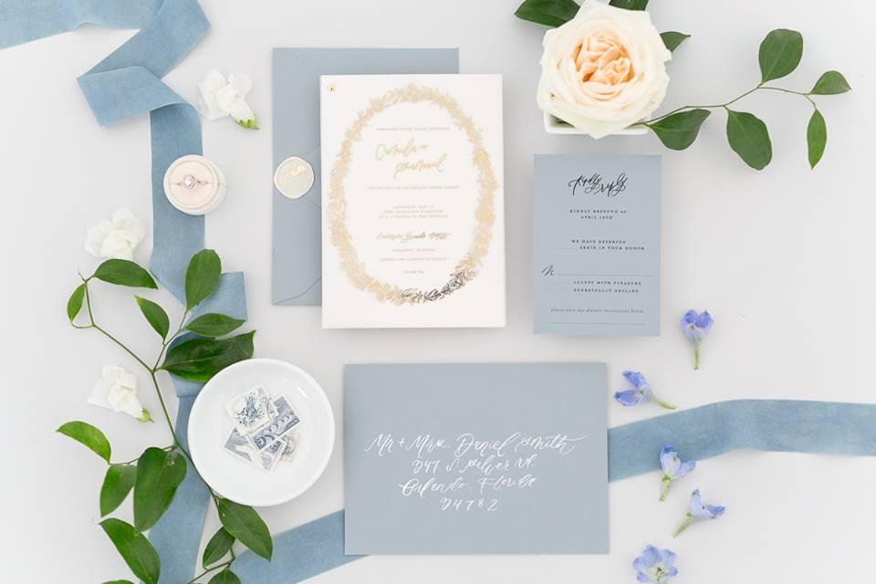 wedding stationary andi meija light blue wedding invitations save the date