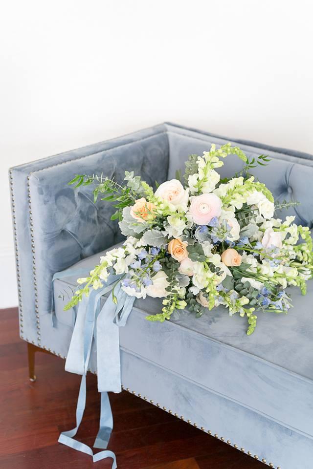 in bloom florist large bridal bouquet