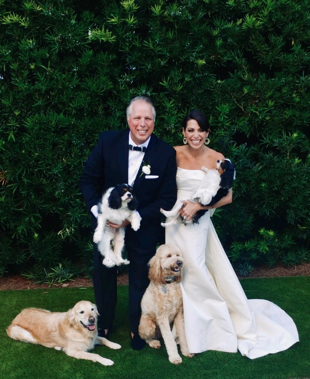 Their dogs are like family and attended the wedding as well.
