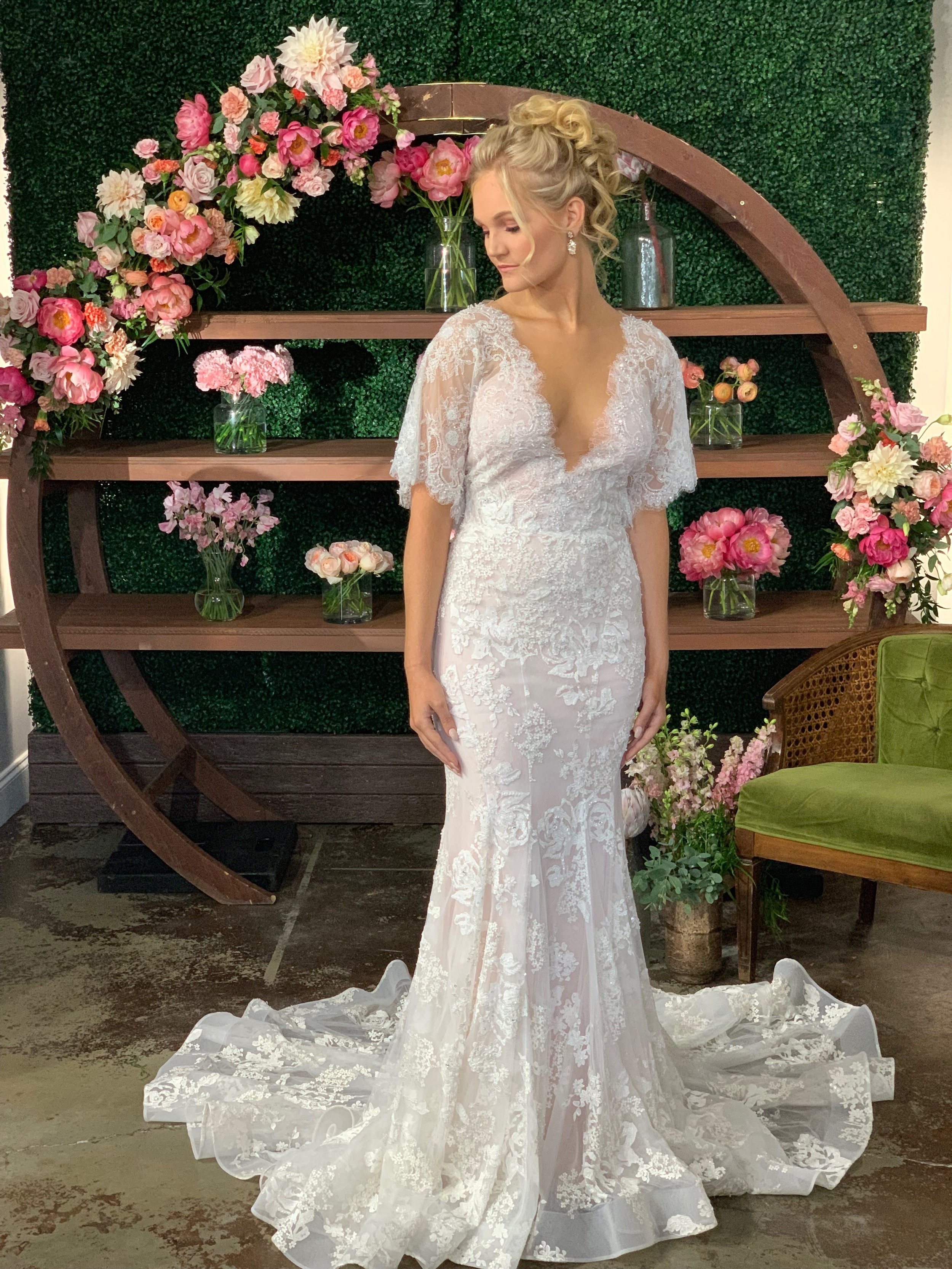 Marchesa wedding gown orlando wedding gowns spring wedding decor