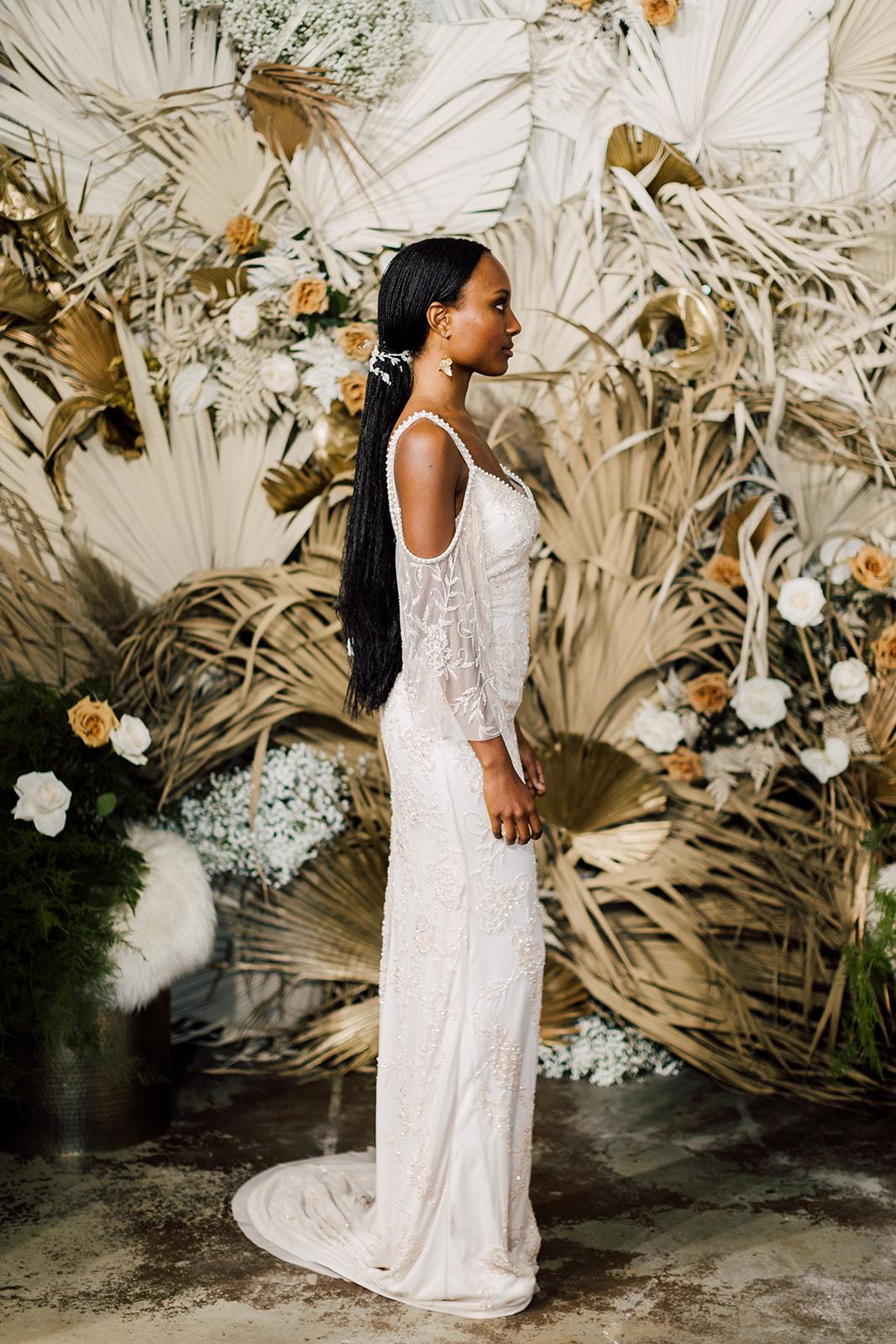 wedding hair sleek ponytail theia bridal