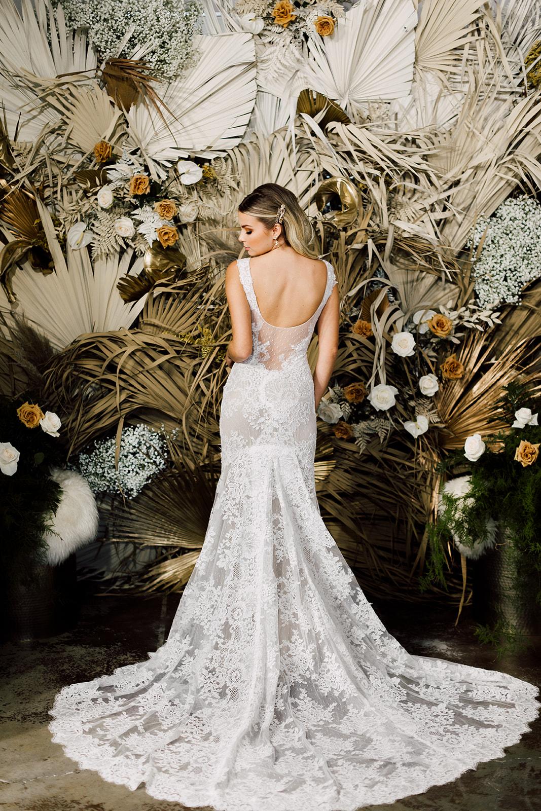 low back lace gown monique lhuillier REVEL events