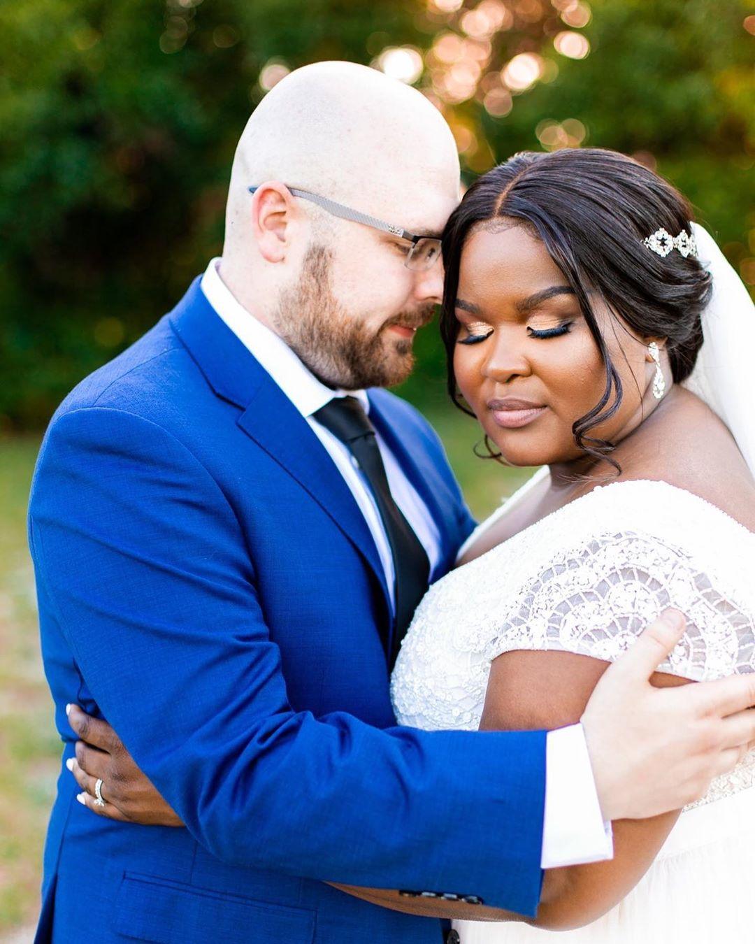 plus size wedding gown beaded theia dress blue suit orlando wedding