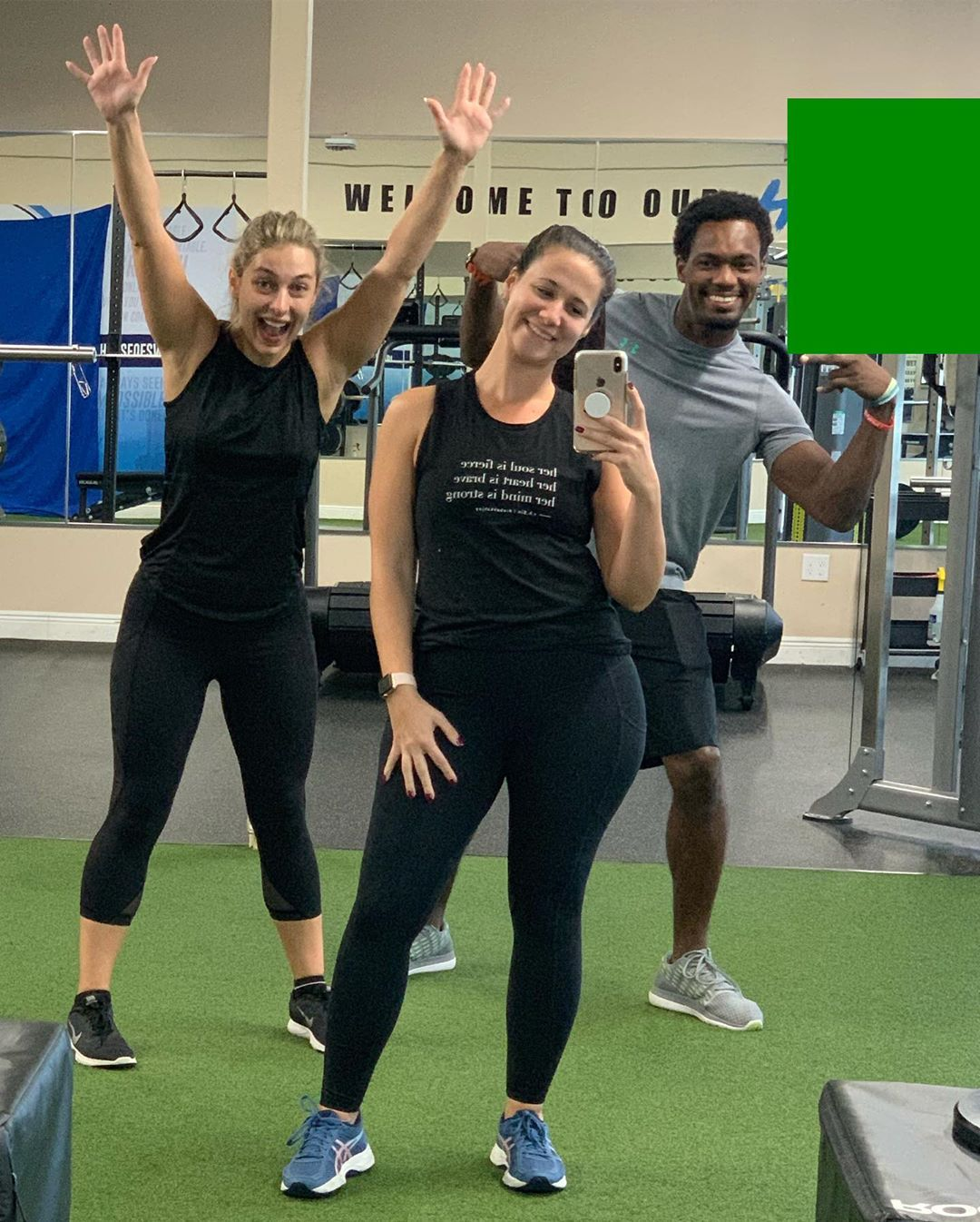 Roberta and her gym buddies at House of Sweat.