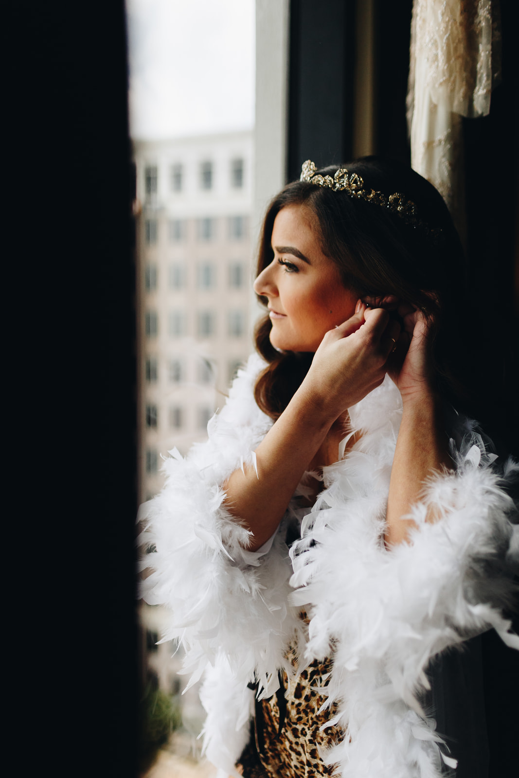 Maria Elena headpieces gold crown