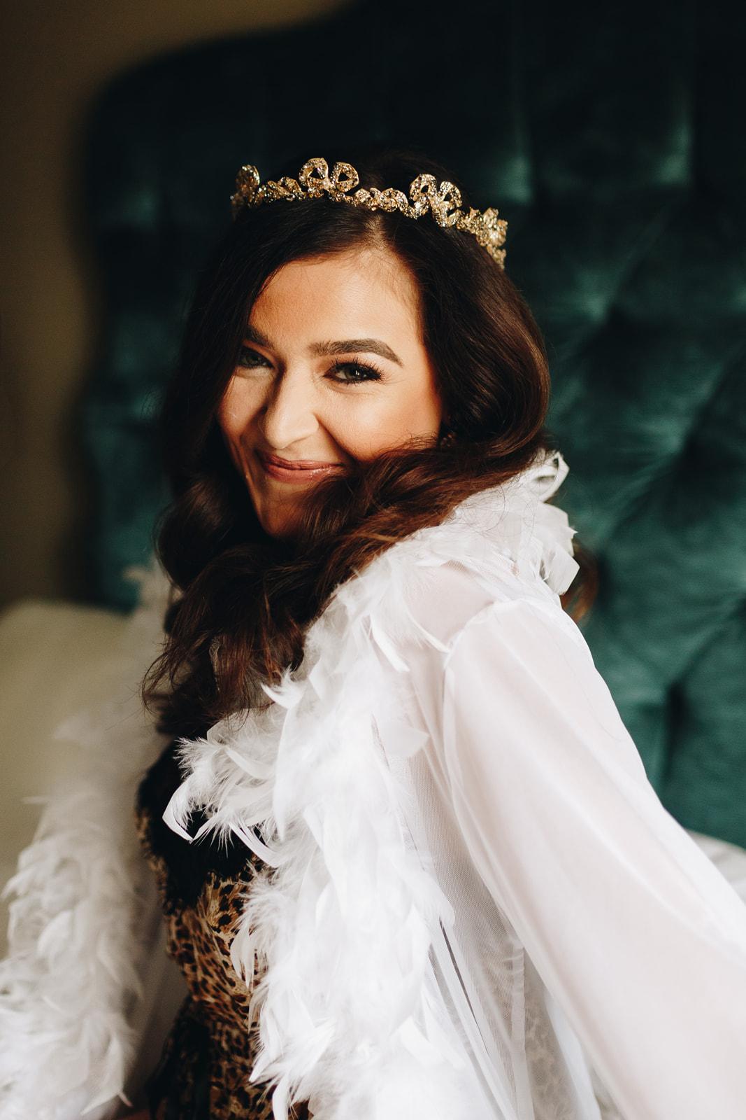 grand bohemian orlando wedding venue maria elena headpieces bride getting ready room