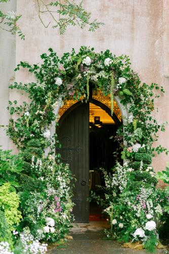 flower arch for spring wedding in ireland