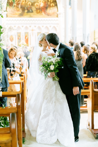 wedding ceremony at ennis cathedral in ireland