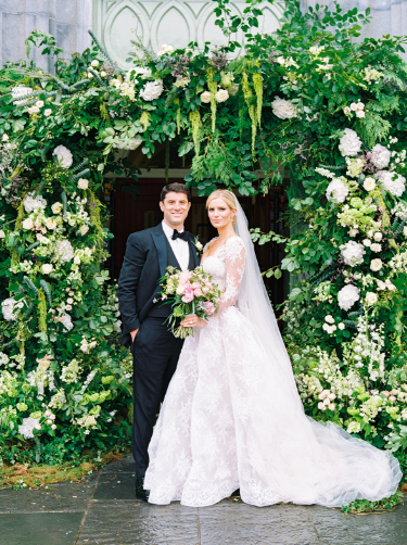 floral arch at ireland wedding