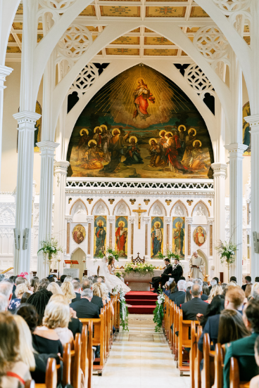 Ennis Cathedral in county clare ireland wedding