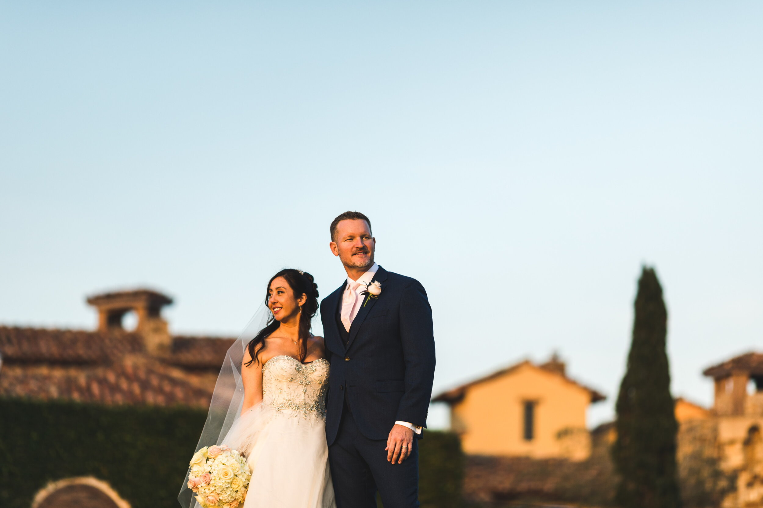 spring italian wedding at bella collina