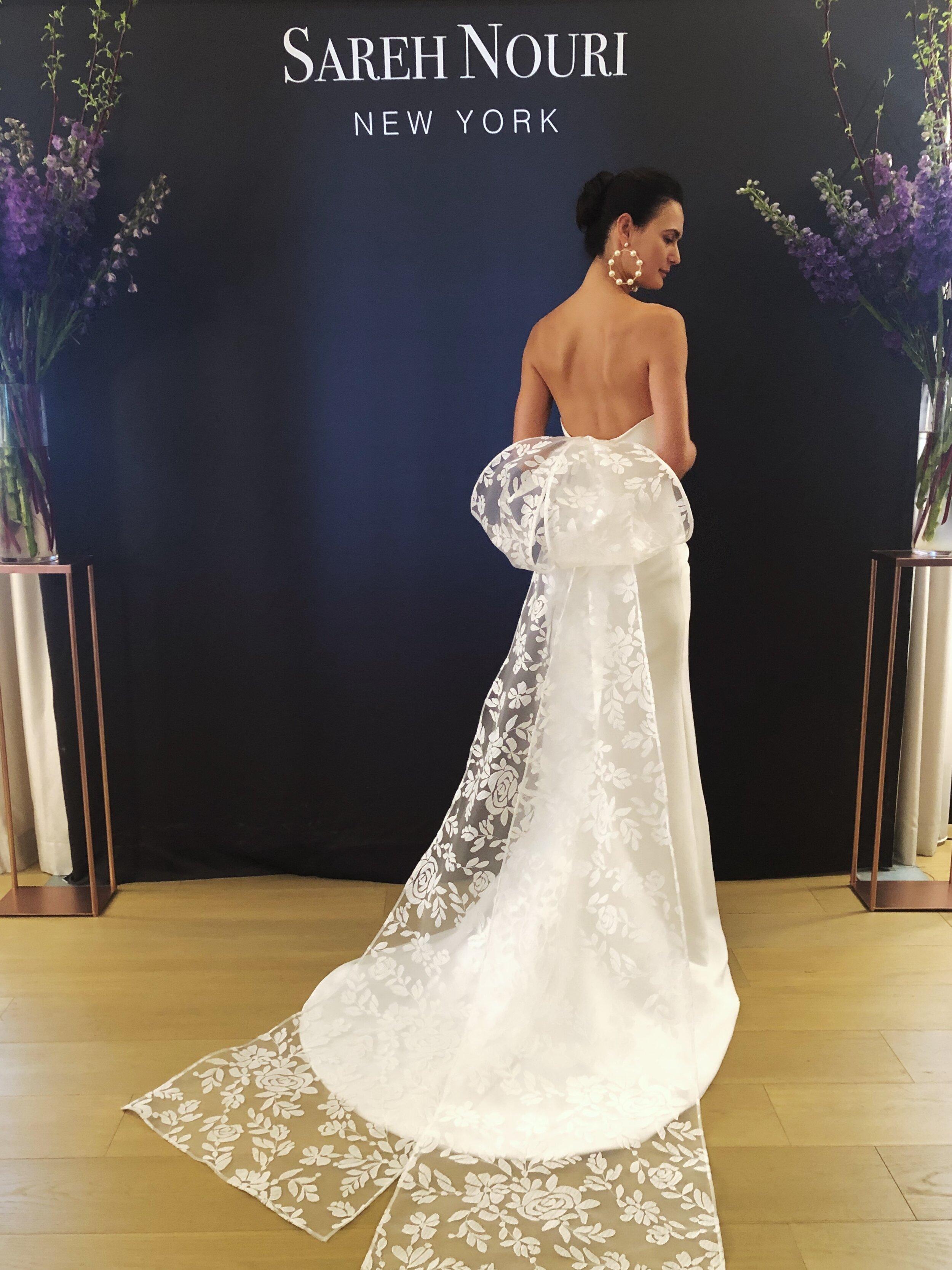 sareh nouri wedding gown bridal fashion week fall 2020