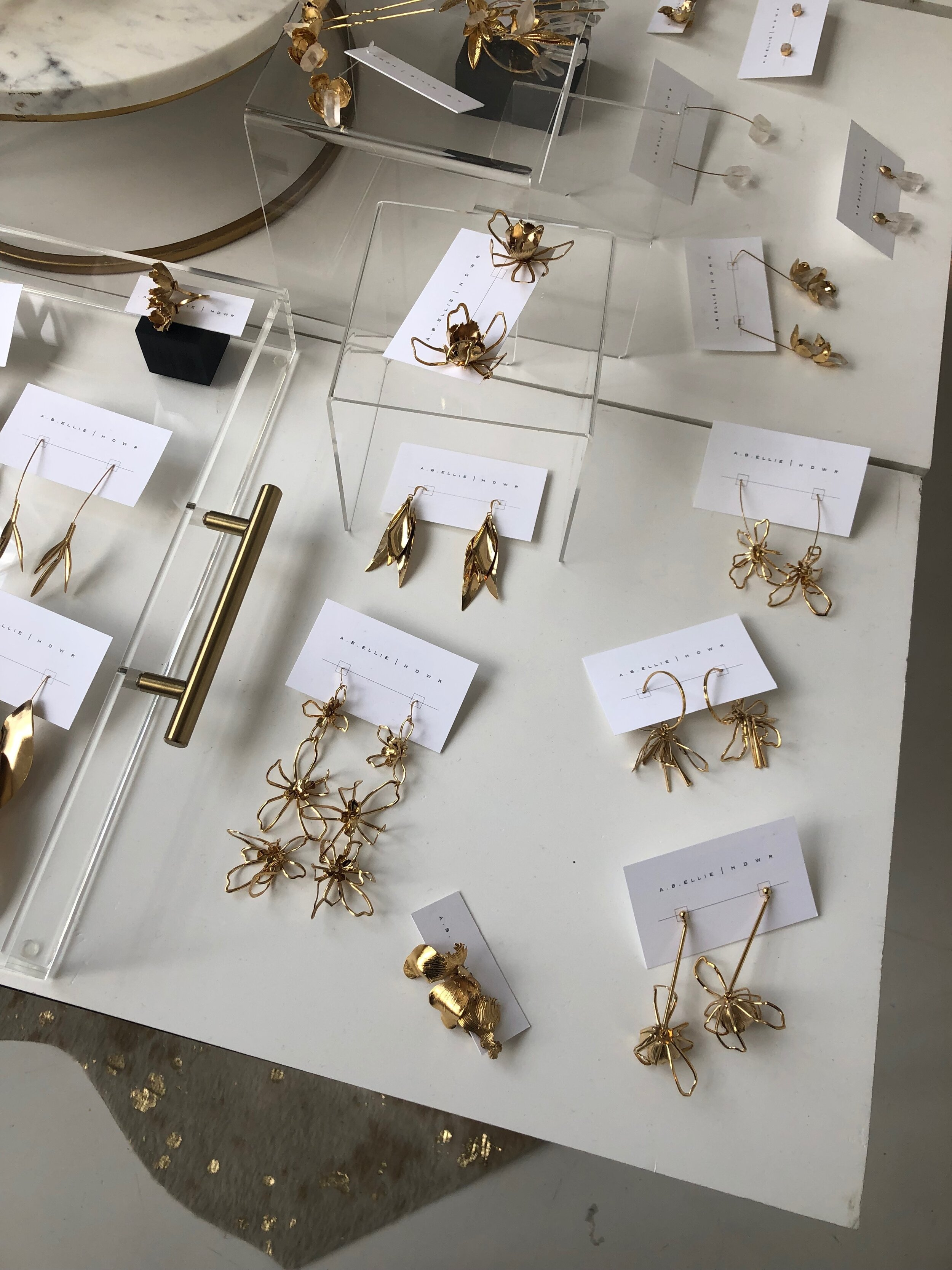 AB Ellie accessories gold jewelry at one fine day market new york