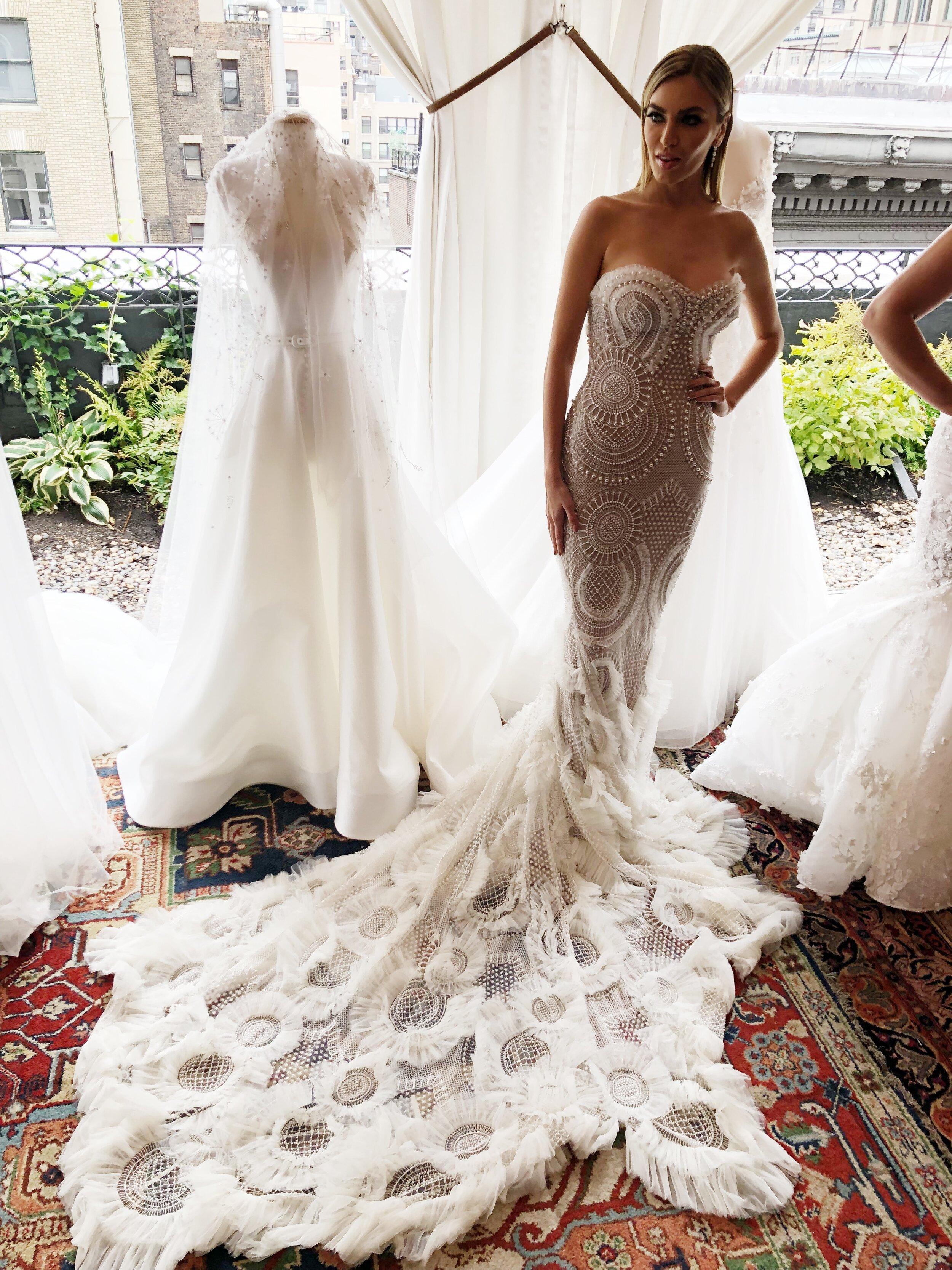 new york bridal fashion week leah de gloria long train 2020 collection