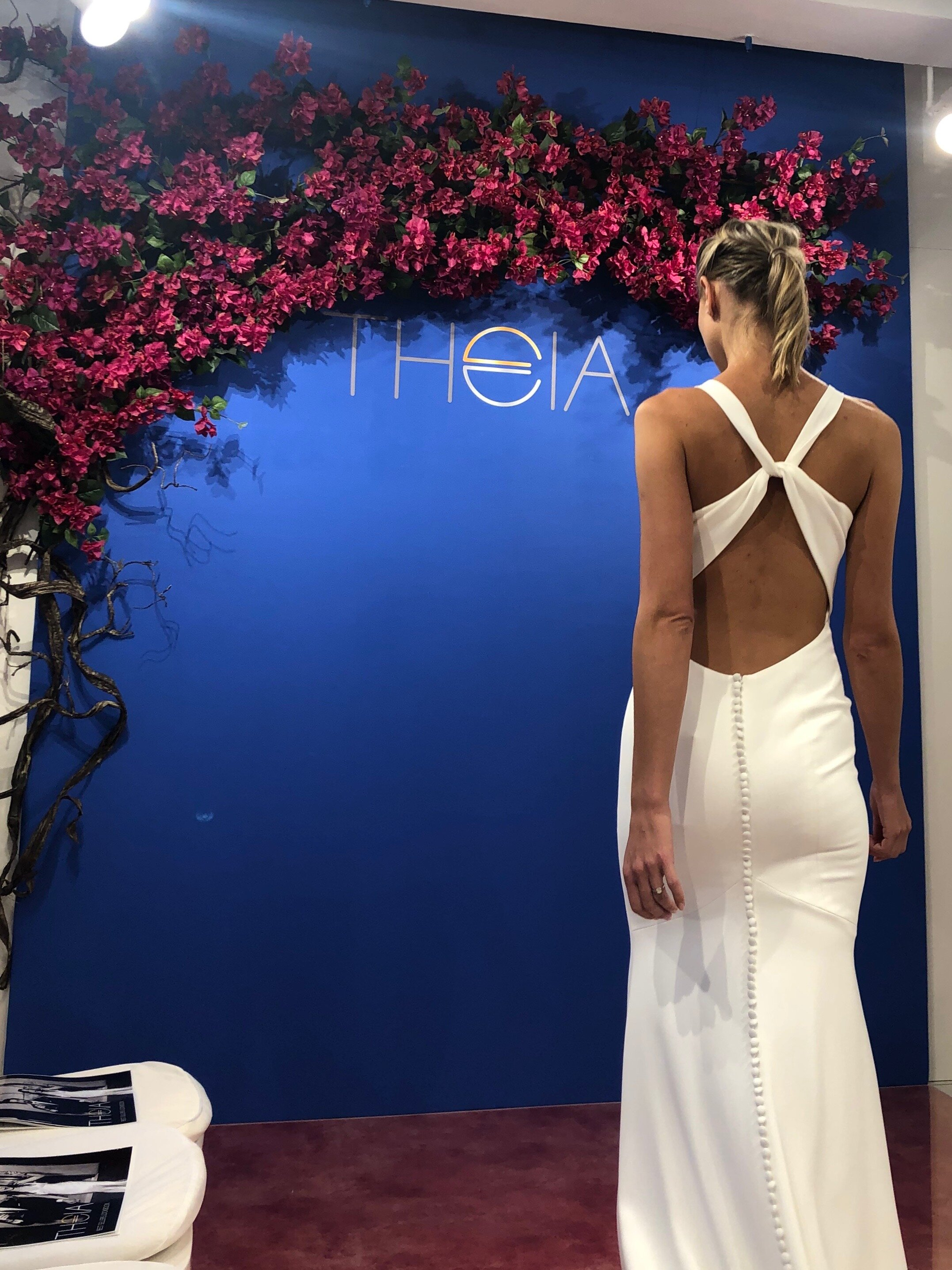 open back theia wedding gown new york bridal fashion week fall 2020 collection