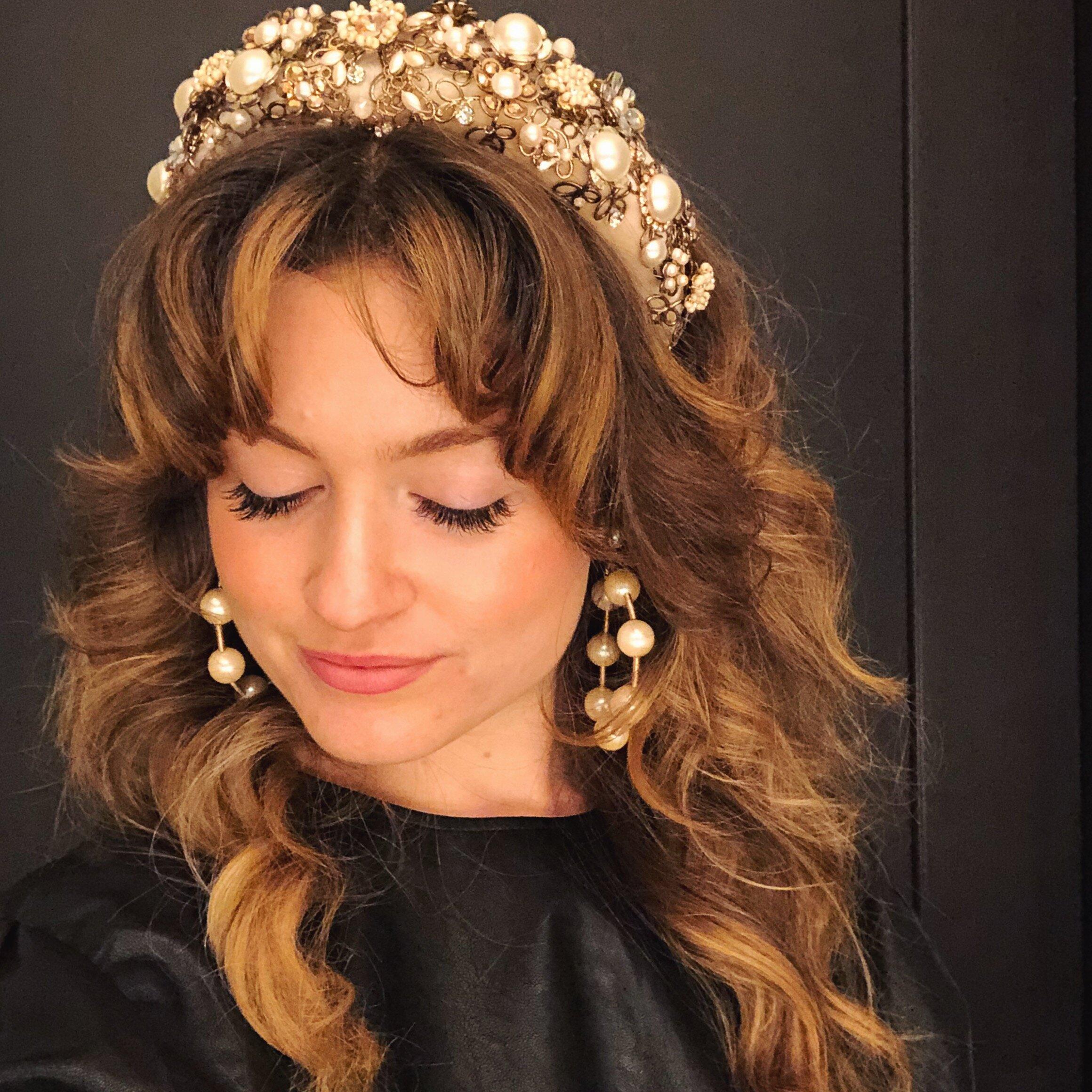 Maria Elena Headpieces berta headbands from berta fashion show bridal fashion week
