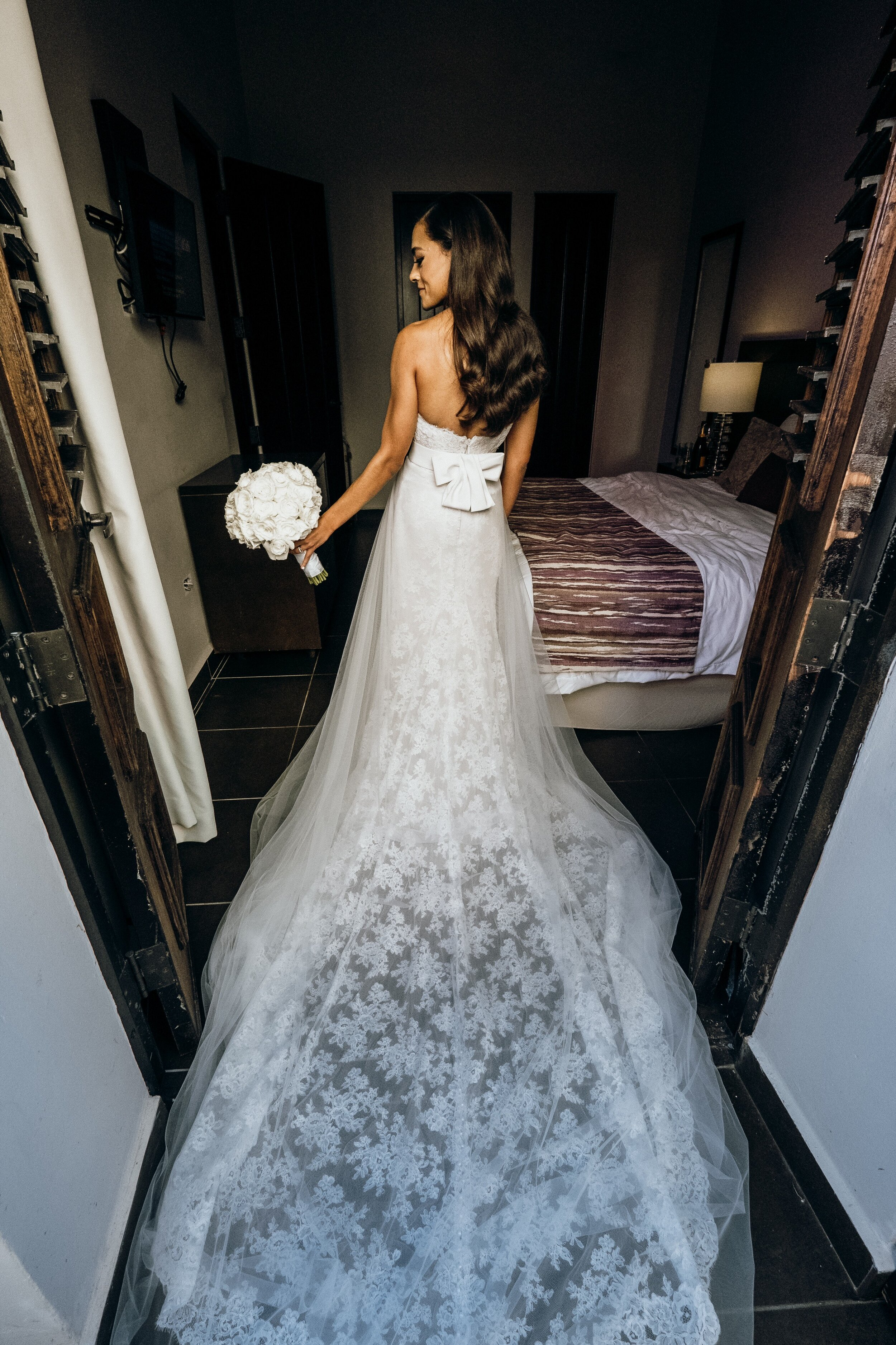 Destination Wedding In San Juan With White And Gold Decor