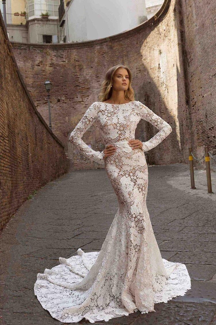 Our Top 18 Mermaid Wedding Dresses with Sleeves