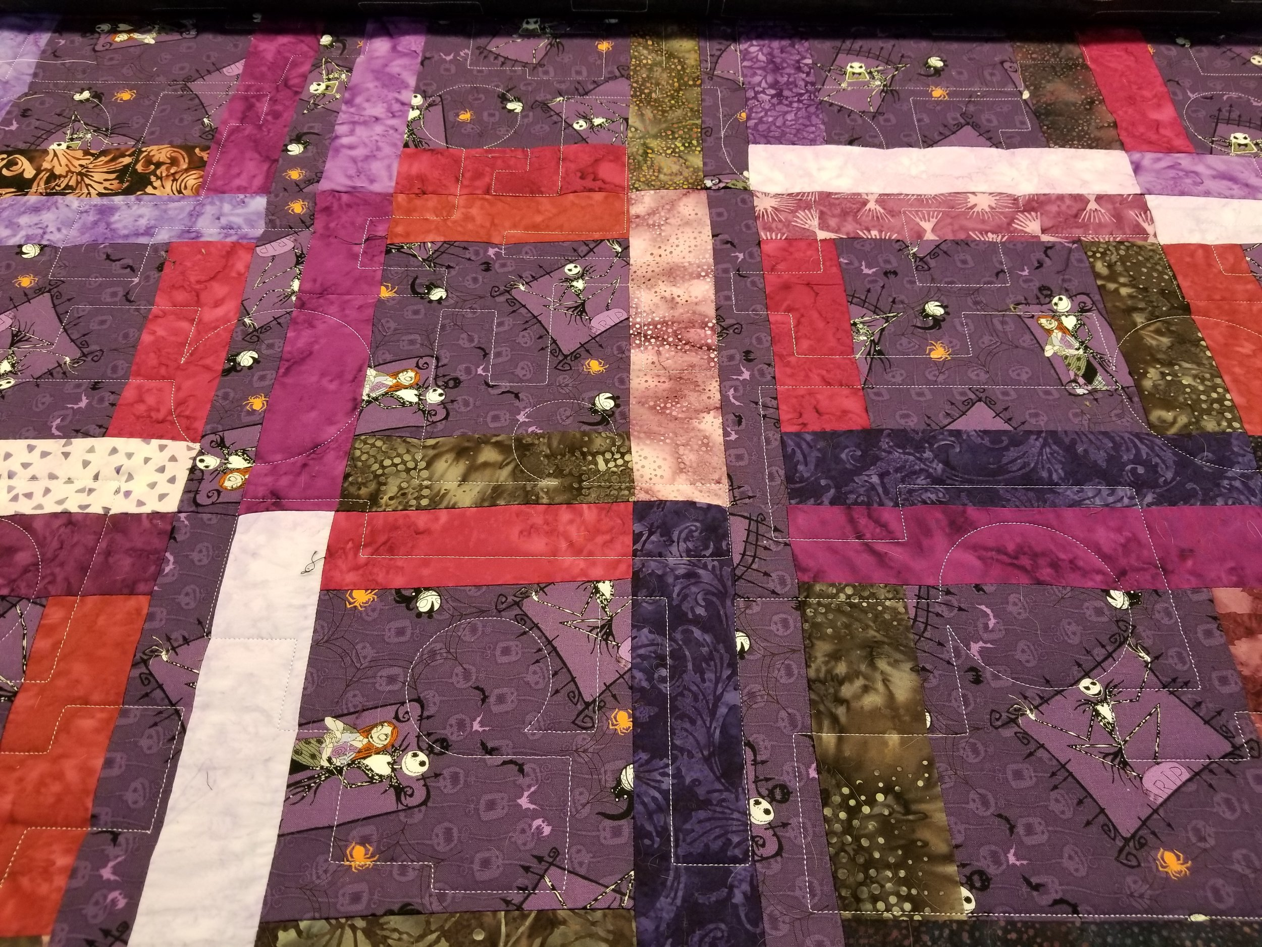 The quilting pattern is as fun as the top pattern and the fabric!