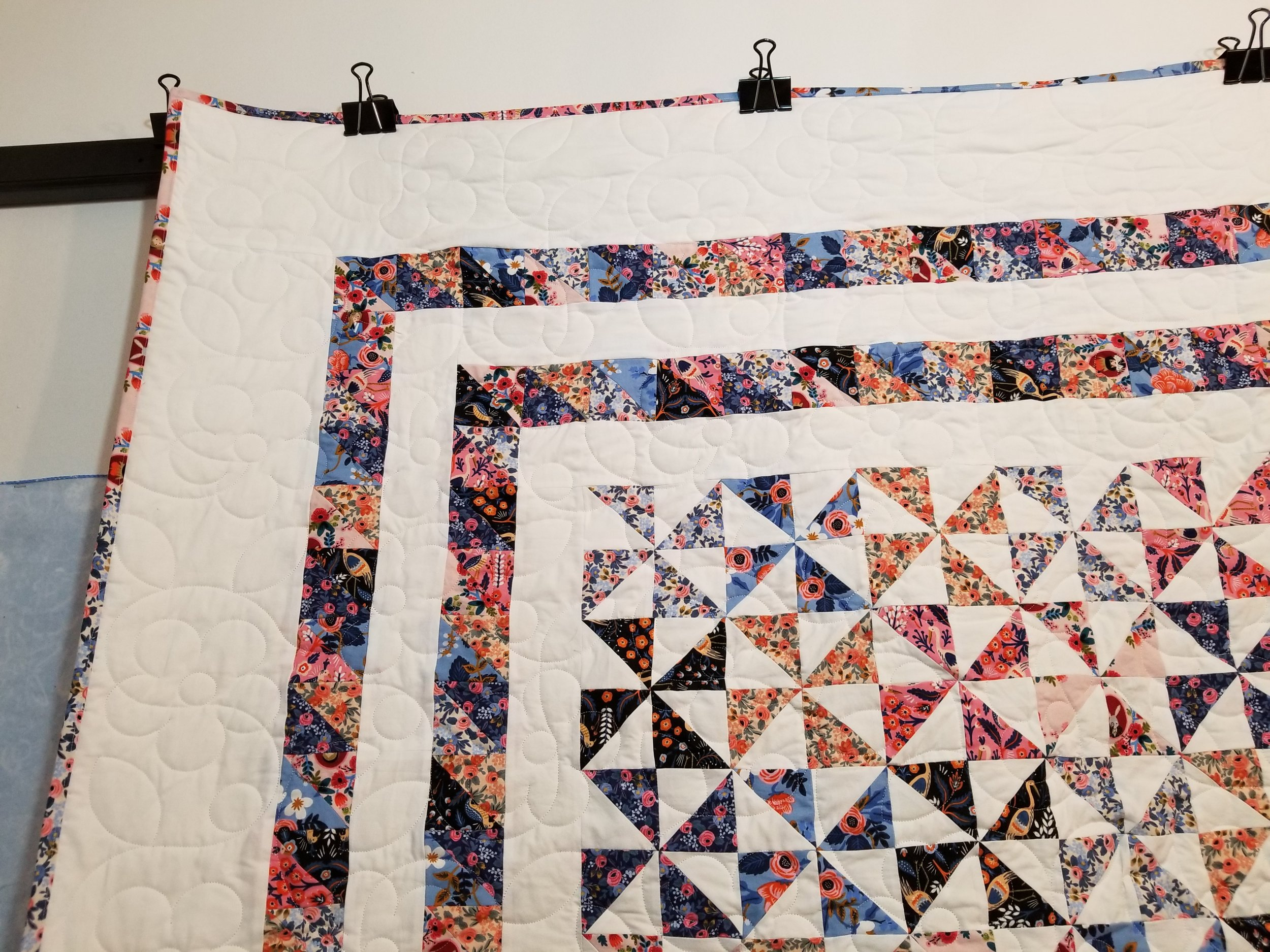 There are 109,035 stitches quilted in this beauty.