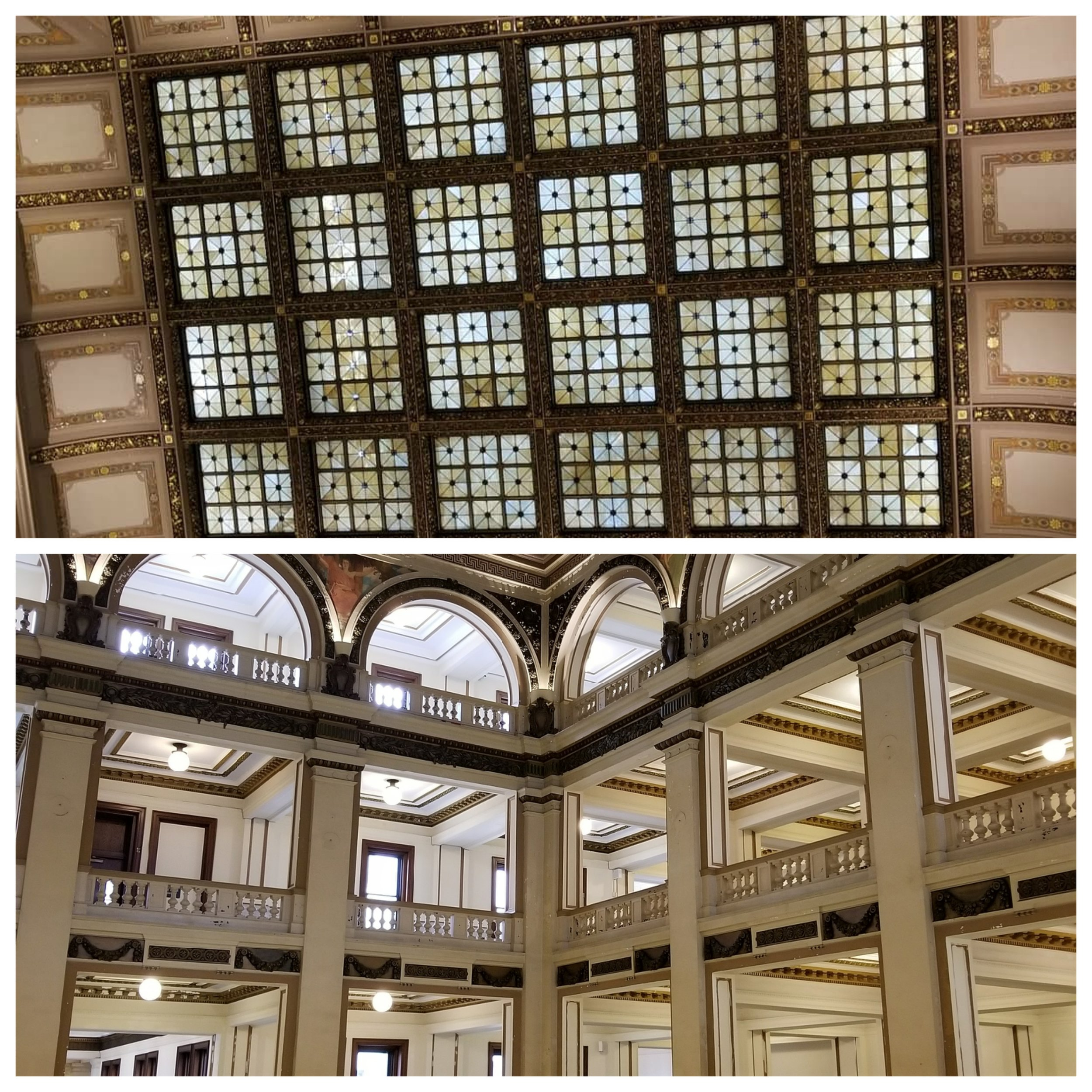 St. Louis City Hall and its' beautiful ceiling.