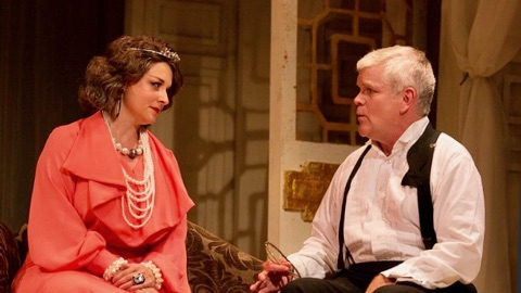 Sarah Schoch and Raymond Sage play a majestically awful opera singer and her long-suffering accompanist.