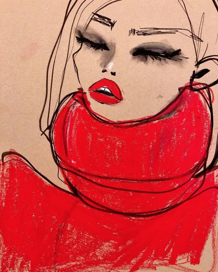 Blair Breitenstein - Red lips, lashes and big eyes
