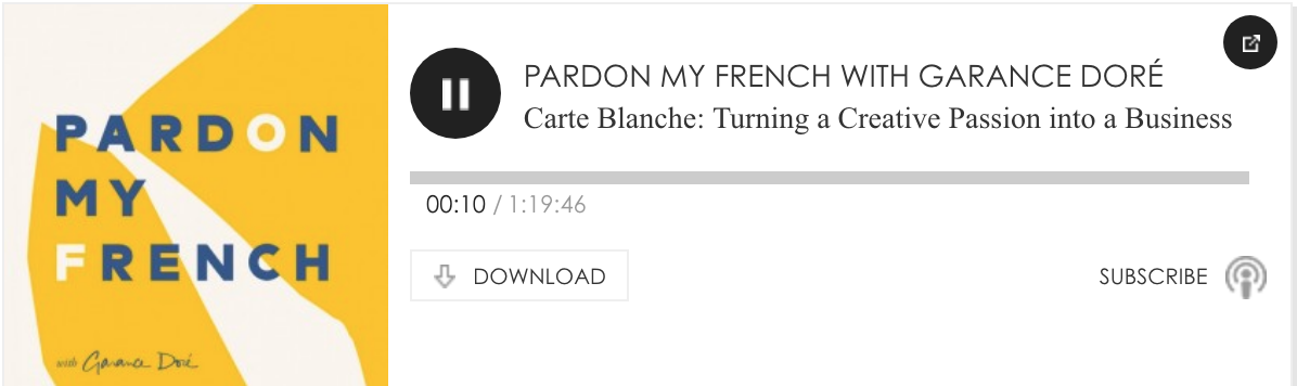 Pardon My French Podcast with Garance Doré