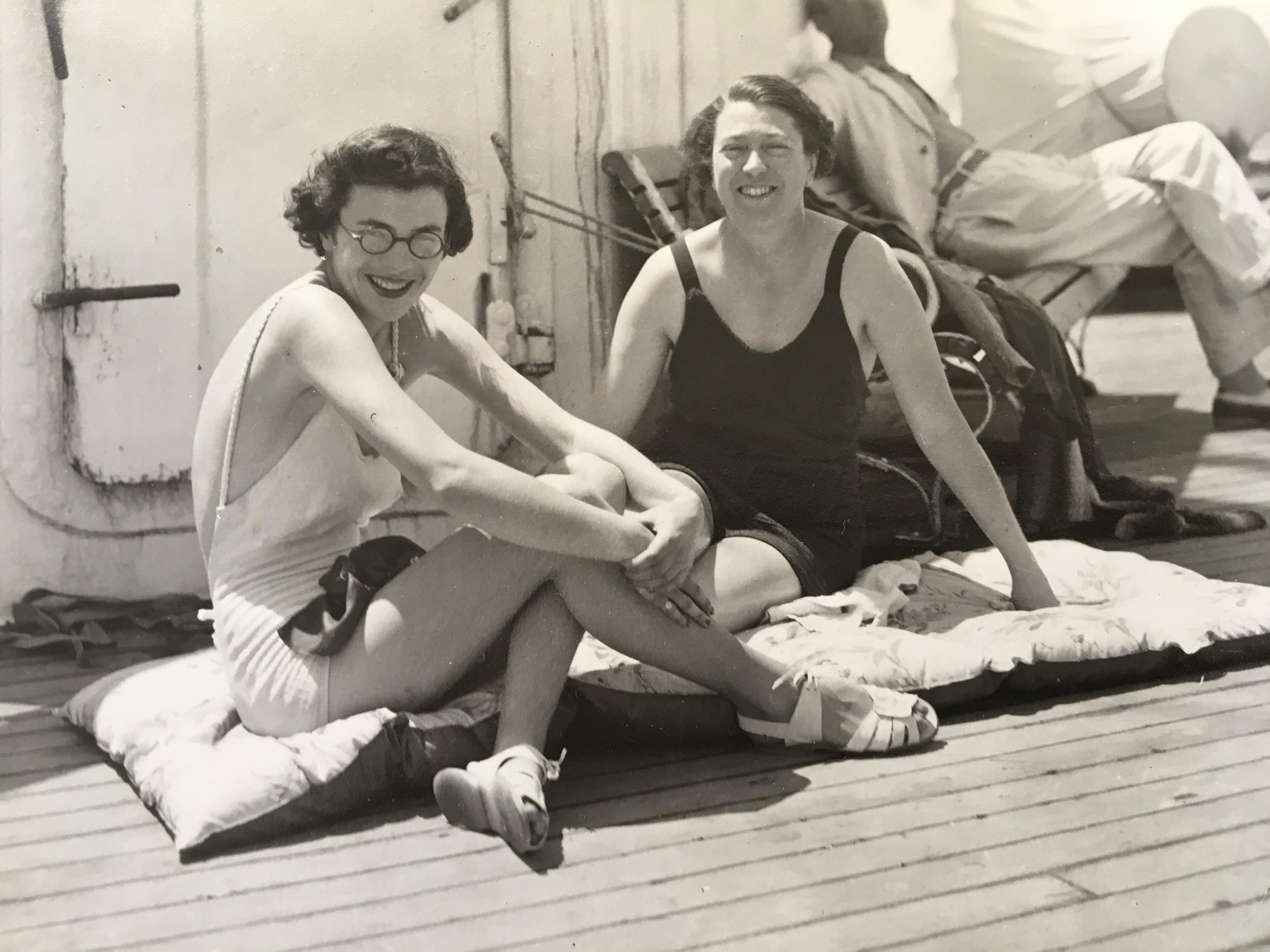 1935 - On  a cruise ship in the Caribbean with her mother