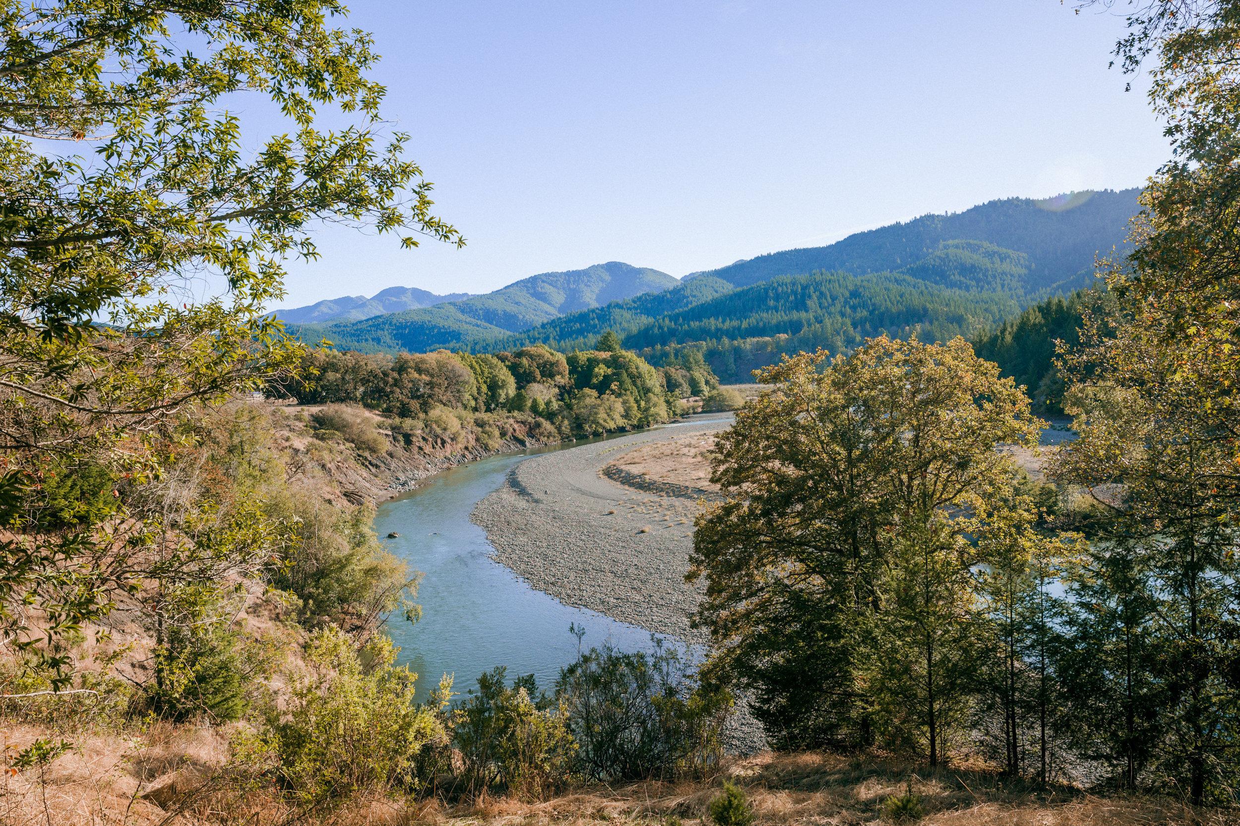 The Mattole River from Winterbourne Farm.